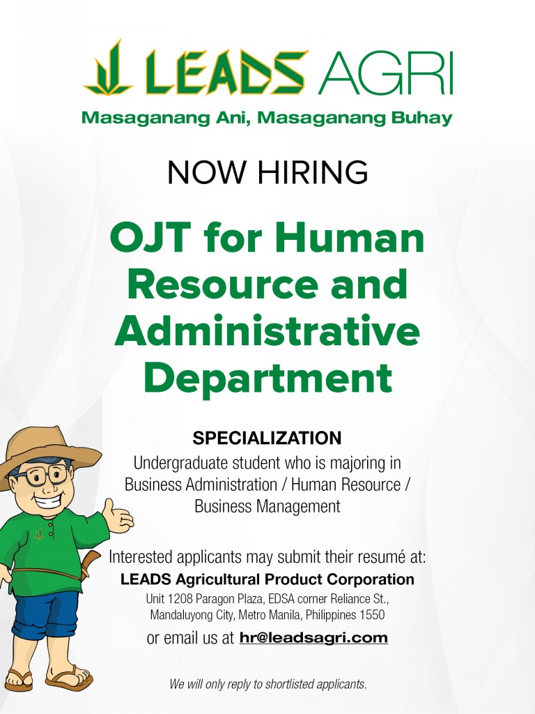 Now Hiring OJT